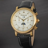 Forini Gold Watch | Men | Genuine Leather Straps
