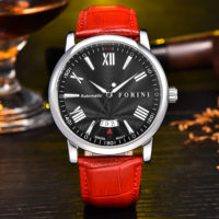 Keynes | Forini Watches | Silver on Red