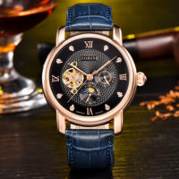 Tagore | Forini Watches | Rose Gold on Blue