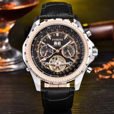 Forini Watches | Equiano | Black Silver on Black