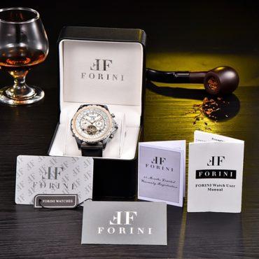 Forini Watches   Equiano   White Silver on Black