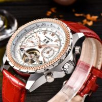 Forini Watches | Equiano | White Silver on Red