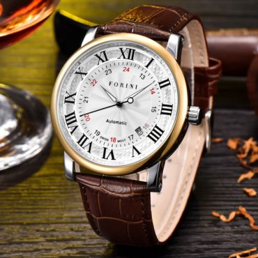 Forini Watches | Bronte | Gold White on Brown