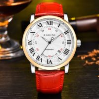 Forini Watches | Bronte | Gold White on Red