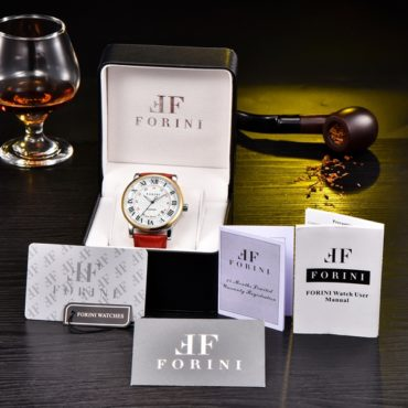 Forini Watches   Bronte   Gold White on Red