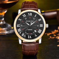 Forini Watches | Bronte | Gold Black on Brown