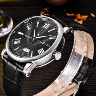 Forini Watches | Keynes | Black Silver on Black