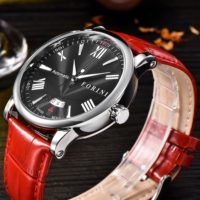 Forini Watches | Keynes | Black Silver on Red