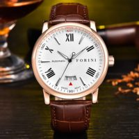 Forini Watches   Keynes   Rose Gold on Brown