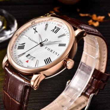 Forini Watches | Keynes | Rose Gold on Brown