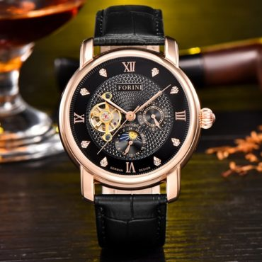 Forini Watches | Tagore | Rose Gold on Black