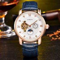 Forini Watches   Tagore   Rose Gold White on Blue