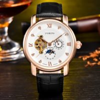 Forini Watches | Tagore | Rose Gold White on Black