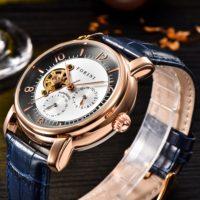 Forini Watches | Ashoka | Rose Gold on Blue