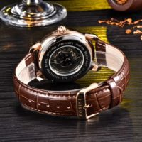 Forini Watches | Ashoka | Rose Gold on Brown