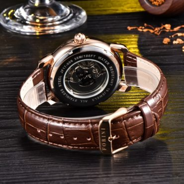Forini Watches | Ashoka | Rose Gold on Brown