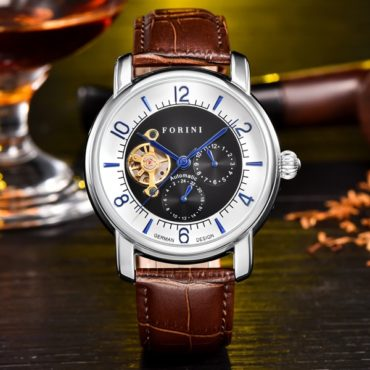 Forini Watches | Ashoka | Silver on Brown