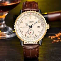 Forini Watches | Rousseau | Gold White on Brown