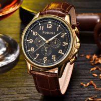 Forini Watches | Krugman | Gold Black on Brown