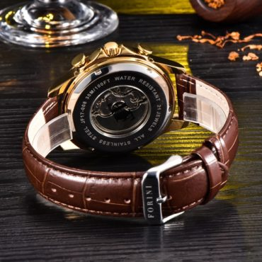 Forini Watches | Krugman | Gold Black on Brown