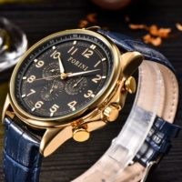 Forini Watches | Krugman | Gold Black on Blue