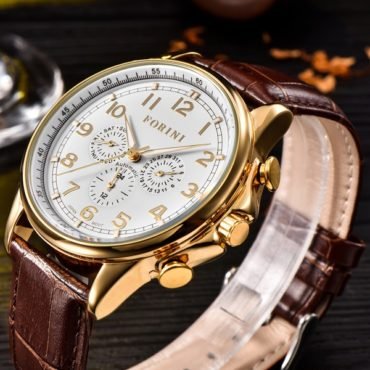 Forini Watches   Krugman   Gold on Brown