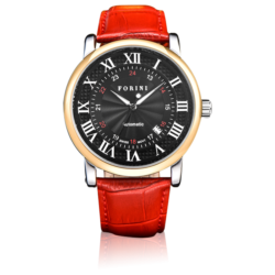 Bronte Gold Black on Red Watch