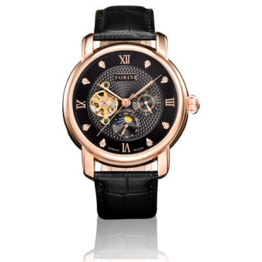 Tagore Rose Gold on Black
