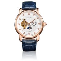 Tagore Rose Gold White on Blue