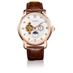 Tagore Rose Gold White on Brown