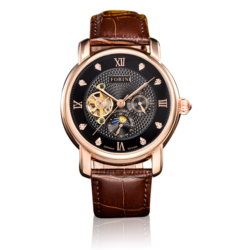 Tagore Rose Gold Black on Brown
