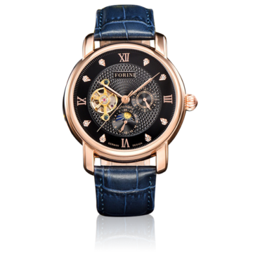 Tagore Rose Gold on Blue