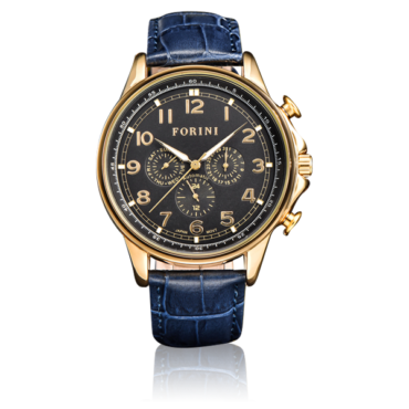 Krugman Gold Black on Blue